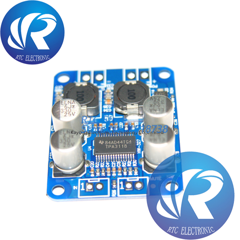 TPA3118 PBTL mono digital amplifier board 1X60W <font><b>12V</b></font> <font><b>24V</b></font> POWER AMP image