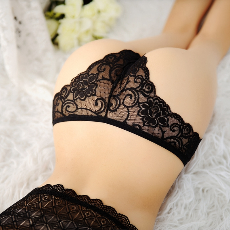Women's Underwear Sexy Lingerie Transparent Lace Panties Brief Sexy Thong G String Woman Low Waist Ropa Interior Femenina
