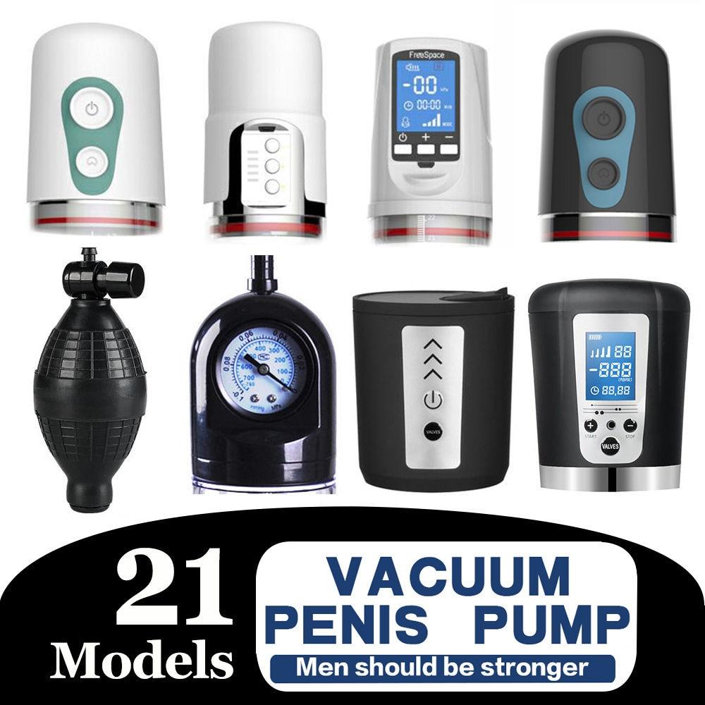 Vacuum Pump Toys Extend Enlarger Vibrator Electric Pump Training Erection Gays Adult Bigger Growth Pumps Penis Enlargement Pump