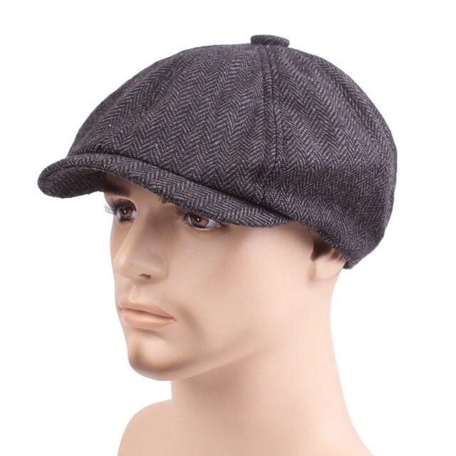 Men Beret Newsboy Hat Celebrity Caps Vintage Tweed Peaky Blinders Berets Flat Peaked Cap Street Hats for Women Men Hiphop