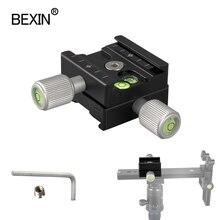 Çift taraflı qr 50 kamera kelepçe tripod hızlı bırakma plakası montaj kelepçe ayrılabilir QR kelepçe arca İsviçre plakası dslr kamera