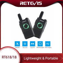 Retevis RT618/RT18 Pmr Radio Oplaadbare Mini Walkie Talkie 2 Pcs PMR446 Pmr 446 Frs Dual Ptt Vox Twee-Way Radio Walkie-Talkie(China)