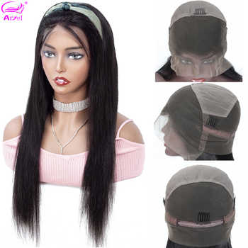 Full Lace Human Hair Wigs Straight Lace Wigs Transparent Lace Human Hair Wigs Brazilian Remy Glueless Full Lace Wig Human Hair - Category 🛒 Hair Extensions & Wigs