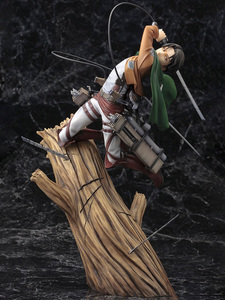 Attack on Titan Artfx J Levi Renewal Package Ver. PVC Action Figure Anime Figure Model Toys Collectible Doll Gift(China)