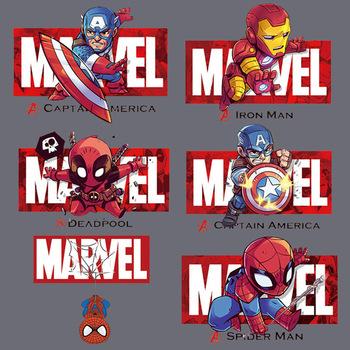 Disney Marvel Spiderman dzieci łatki naprasowanki na ubrania dla dorosłych winylu termiczne naklejki transferowe T-Shirt naklejki przenikania ciepła prezent tanie i dobre opinie CN (pochodzenie)