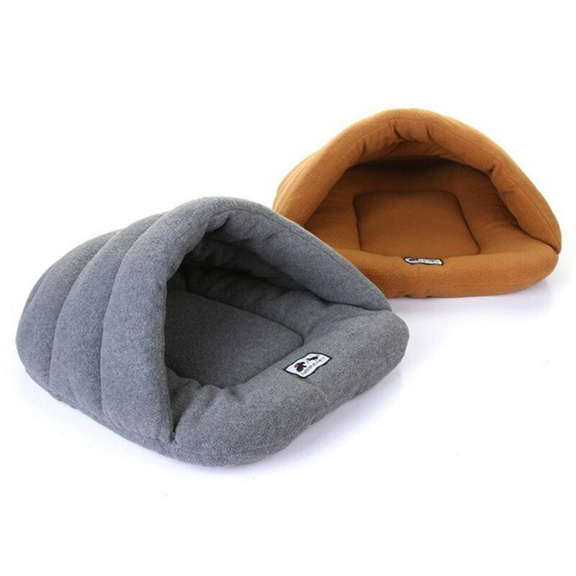 Puppy Pet Cat Dog Soft Warm Nest Kennel Bed Cave House Sleeping Bag Mat Pad Tent 6 Colors Pets Winter Warm Cozy Beds