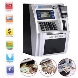 Giantree محاكاة لنا ATM توفير البنوك ATM حصالة على شكل حيوان ATM خزنة النقود es مع شاشة LCD الفضة الاطفال هدية خزنة النقود
