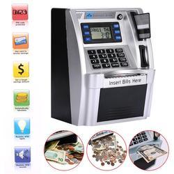 Giantree Simulation US ATM сберегающие банки ATM Копилка ATM Сейф для денег коробки с ЖК-экраном Серебряный детский подарок Сейф для денег коробка
