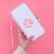 Nintend Switch Lite Carrying Case Cute Paw Travel Bag PU Hard Shell Portable Storage Bags For Switch Lite Game Accessories