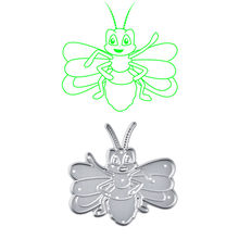 YaMinSanNiO Happy Bee Metal Cutting Dies New 2019 for Craft Dies Scrapbooking Embossing Stencil DIY Die Cut Card Decoration Gift(China)