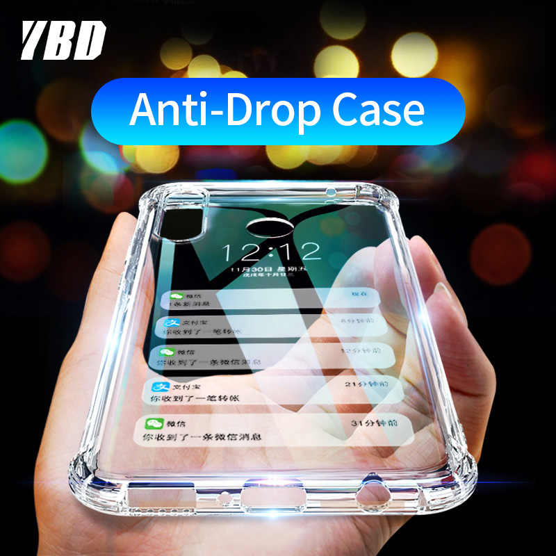 YBD Clear Shockproof Case for Honor 8x Huawei P20 P30 Lite Funda Coque Protective Case for Honor 10 Lite P Smart 2019 Case Cover