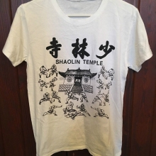 SHAOLIN TEMPLE WHITE T-SHIRT ORTHODOX LUOHAN BOXING OF SHAOLIN GONGFU SIZE XL