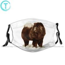 Chow Chow Mouth Face Mask Black Chow Facial Mask with 2 Filters Cool Kawai Adult Mask