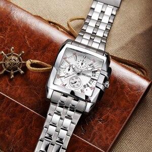 Image 3 - Часы наручные MEGIR Мужские кварцевые, оригинальные Роскошные деловые, с большим циферблатом, из нержавеющей стали, 2018
