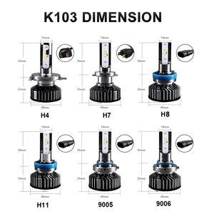Image 5 - HLXG H4 H7 4 LEVOU Chips de LED Lâmpada Do Farol Do Carro Kit H7 12V 12000LM 80W 6500K Luz do Farol hb3 LEVOU HB4 LED H11 H8 H9 9005 9006