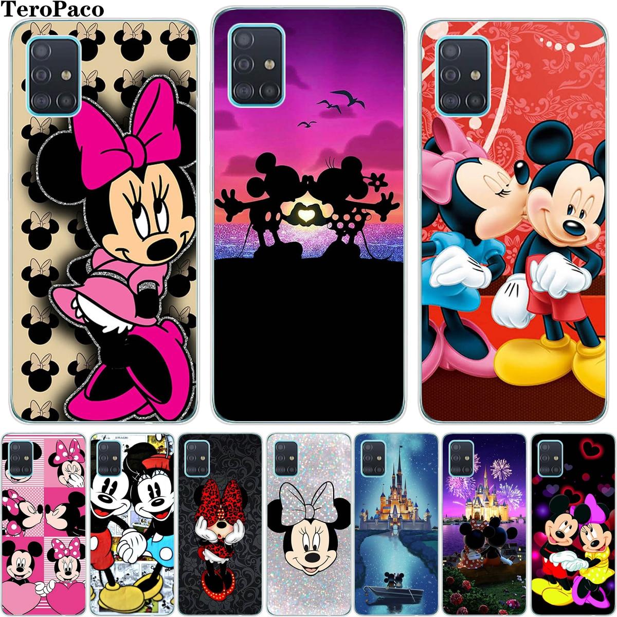 Cartoon Mickey Minn Soft Silicon TPU Phone Case For Samsung Galaxy A01 A51 A71 A81 A91 S20 Plus Ultra For S20ultra S20plus Cover
