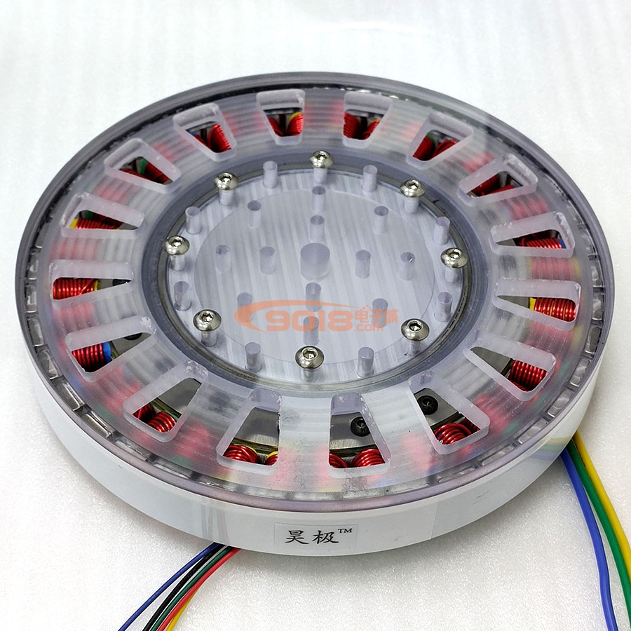 400W Low Speed Large Torque DC Brushless Motor Disk Motor Ultra-thin Flat Large Diameter Shaftless Version