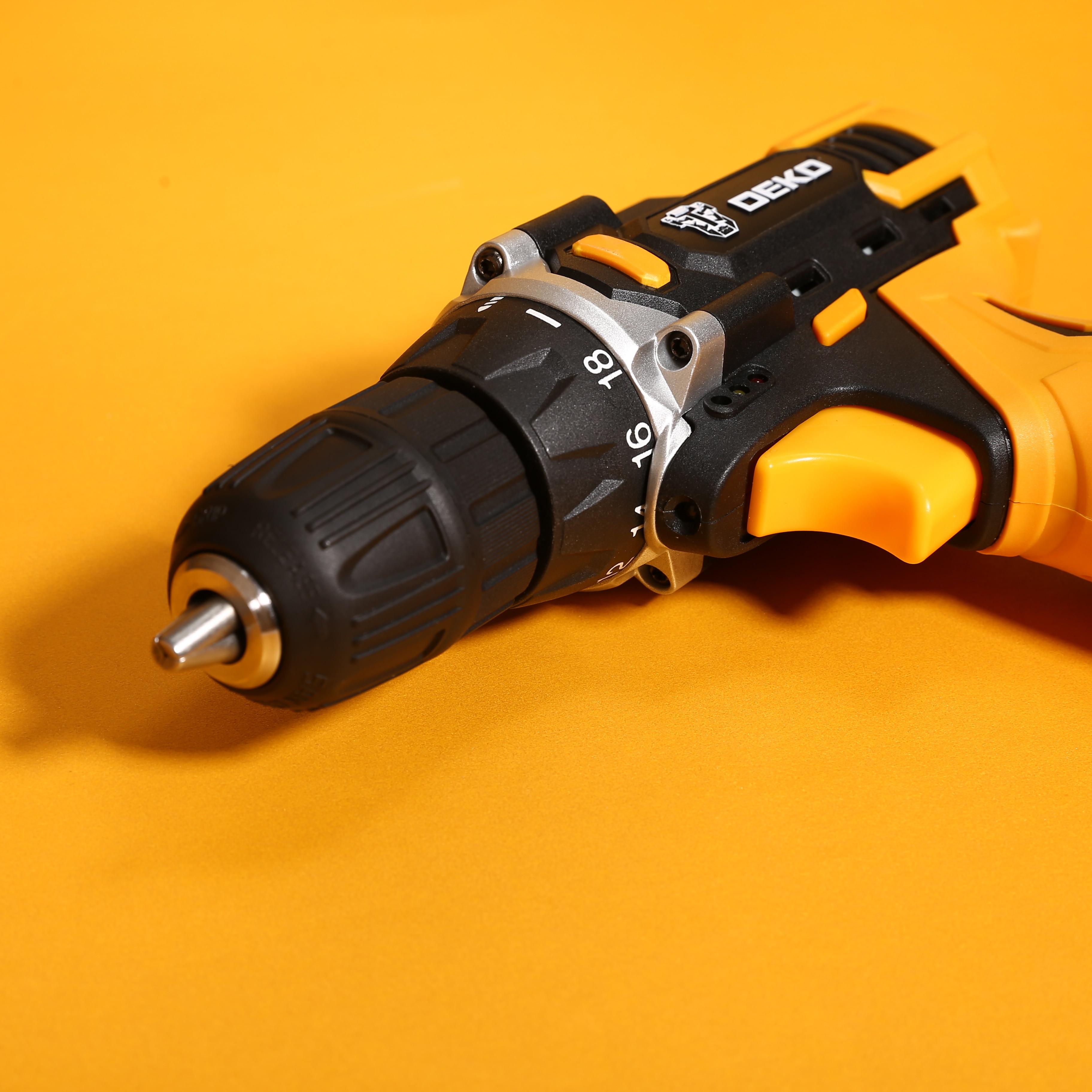 DEKO Новый Banger 12 В аккумуляторная дрель с литиевой батареей светодиодный светильник мини беспроводной драйвер питания DC электрическая отвер...