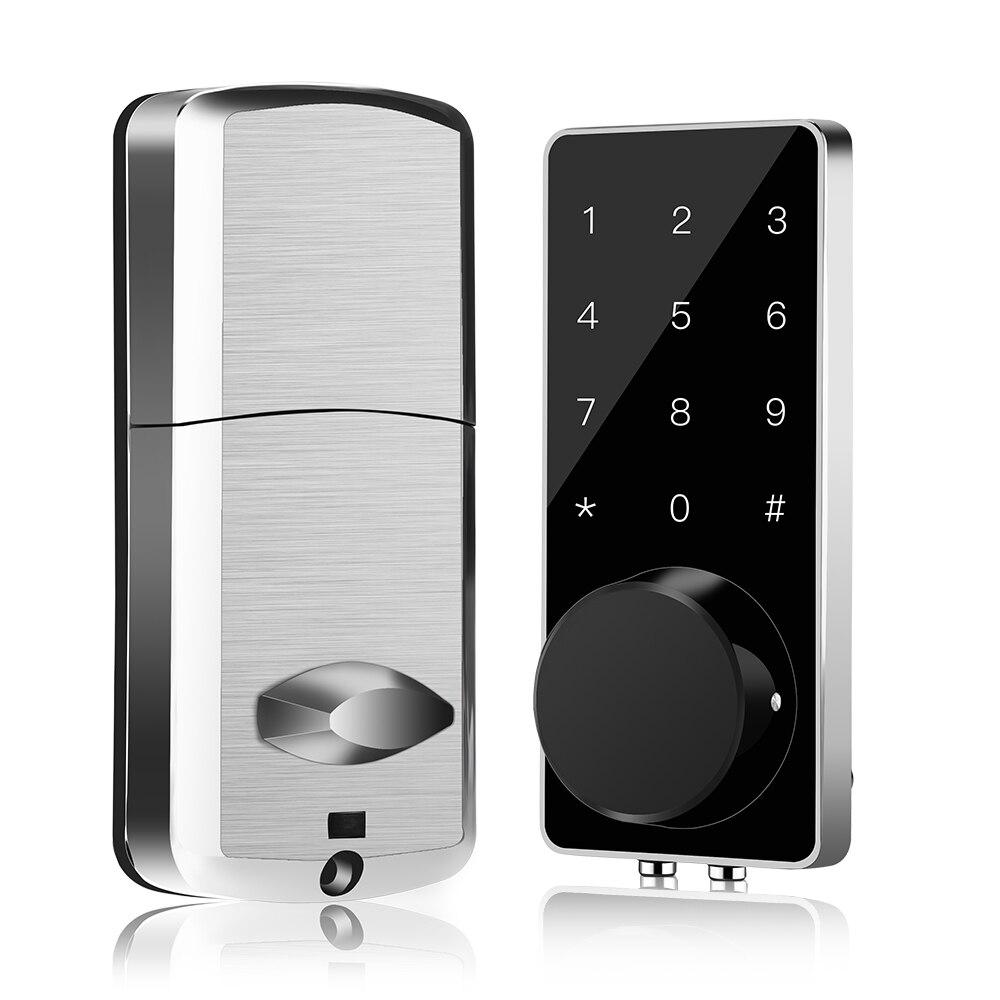 Fechadura da porta de entrada keyless bloqueio inteligente deadbolt eletrônico digital bluetooth fechadura da porta com teclado fechadura automática fechadura digital