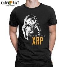 Футболка Amazing Ripple XRP Moon Мужская, хлопок, круглый вырез, Биткоин, криптовалюты, короткий рукав, одежда для вечеринки
