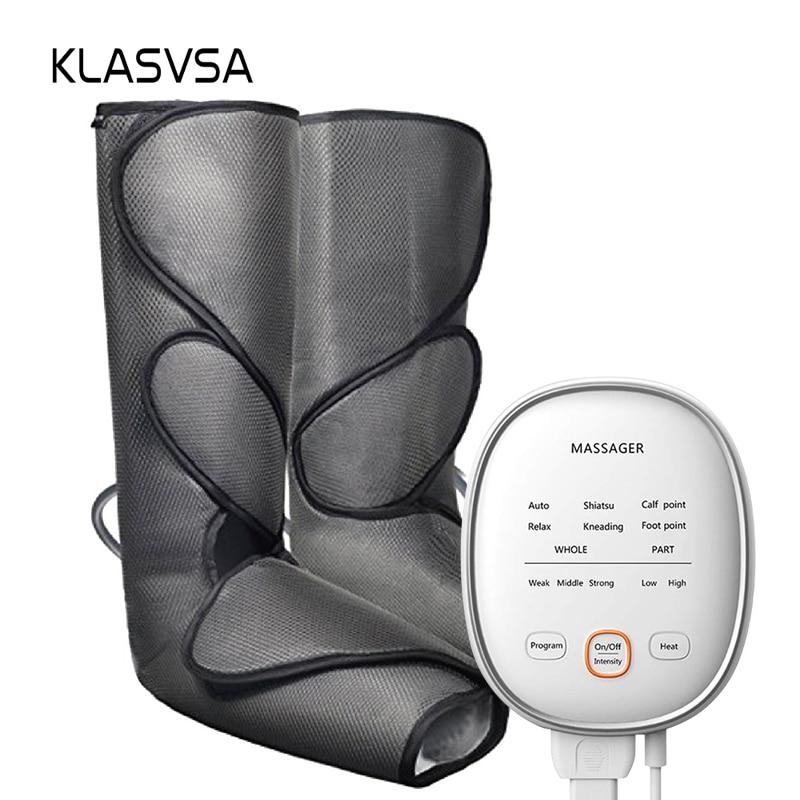 KLASVSA Leg Massager Air Compression Circulation Foot and Calf Massager with Handheld Controller 2 Modes 3 Intensities    - AliExpress
