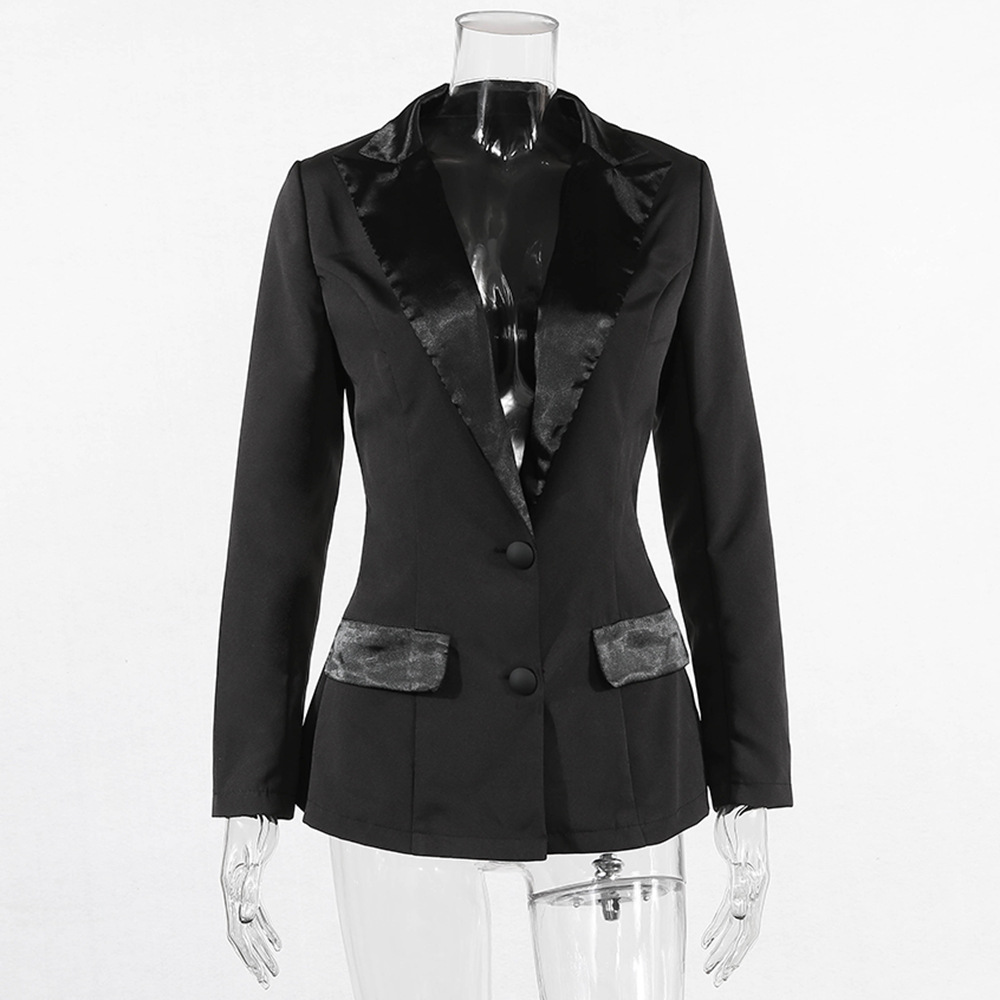 Joskaa Women White Blazer 2020 Spring Long Sleeve OL Jackets Sashes Button Slim Blazer Feminino Long Business Blazer