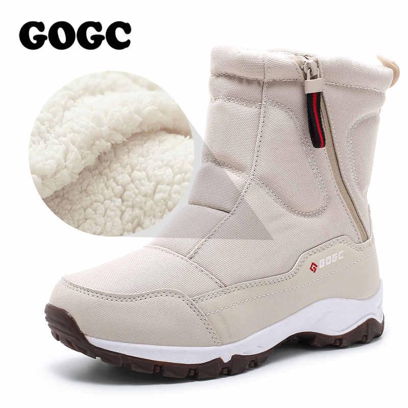 GOGC donne stivali delle Donne di Inverno Stivali Scarpe donna stivali da neve Stivali da Donna Stivali Invernali Stivali per Le Donne Scarpe Inverno caviglia stivali G9906