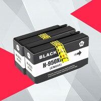 2 шт. BK совместимый для HP 950XL 951XL 950 951 чернильные картриджи Officejet Pro 8100 8600 8610 8615 8620 8625 251dw 276dw для HP950