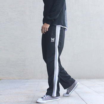 High Street AWGE Joggers Sweatpants Men Women Butterfly Embroidery Pants Quality Side Colored Stripes