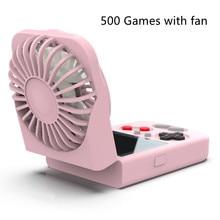 Handheld Opvouwbare Retro Game Console Met Usb Ventilator En Kleur Display 500 In 1 Game Console Voor Kinderen Volwassenen