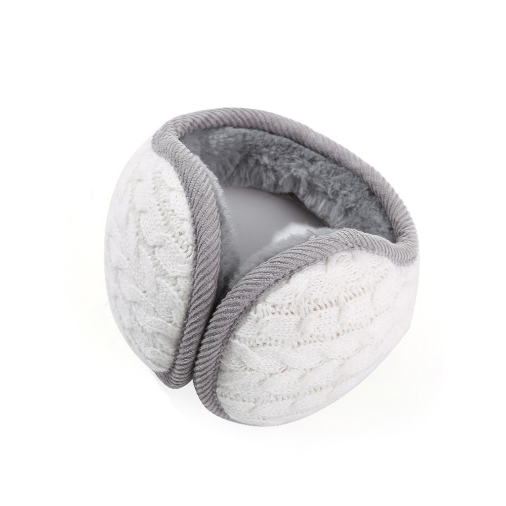 Knitted Warm Earmuffs Plush Ear Cover Fashion Men And Women Solid Color Leisure Windproof Soft Earmuffs Autumn And Winter