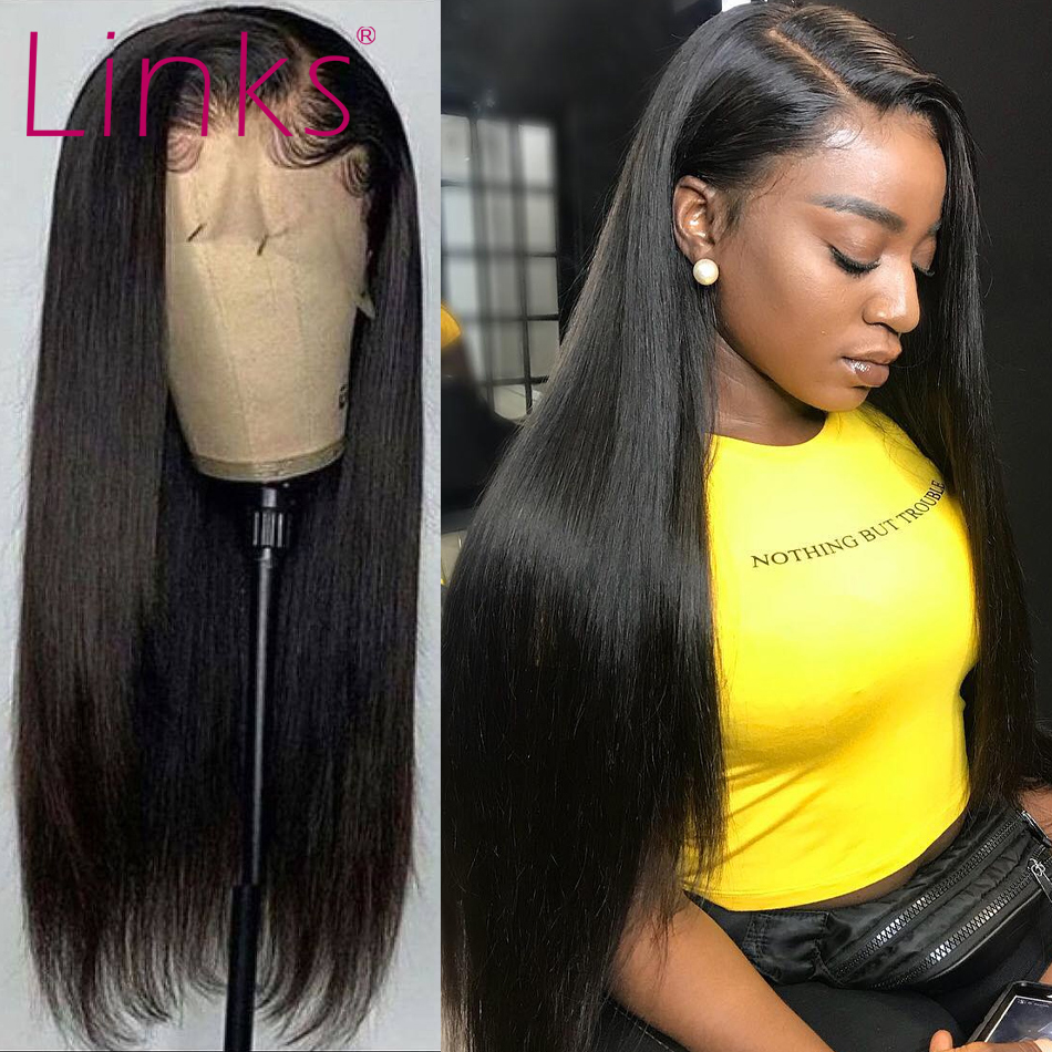 Сетчатый передний al парик, прямые бразильские волосы Remy 28, 30, 40 дюймов, парик из человеческих волос на сетке спереди 4X4, парики на сетке для че...