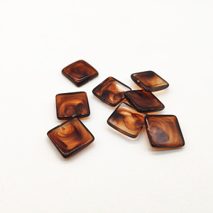 Image 5 - Neue ankunft! 17mm 300 stücke acryl Marmor wirkung flache rückseite platz form für ohrringe zubehör, Ohrring teile, schmuck machen DIY
