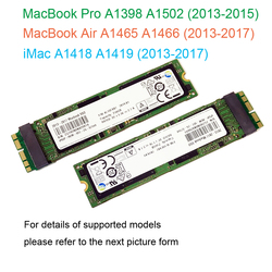 2013 2014 2015 2017 Macbook Air A1465 A1466 128GB 256GB 512GB 1TB dysk SSD dysk komputera Mac Pro A1398 A1502 512G dysk twardy ssd|Wewnętrzne dyski SSD|   -