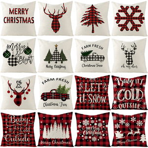 Christmas cushion cover 45*45 Pillowcase sofa cushions Pillow cases Cotton Linen pillow covers Home Decor 0262