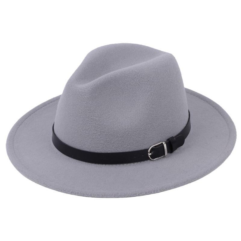 Classic British Fedora Hat Men Women Imitation Woolen Winter Felt Hats Fashion Jazz Hat Chapeau Wholesale 25