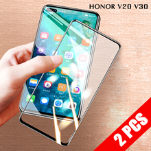 2 PCS Full Cover 9D Tempered Glass For huawei honor V30 Pro V20 Protective Screen Protector Explosion-proof Film 2 in 1 full cover 9d tempered glass for huawei honor v30 v30 pro v20 screen protector