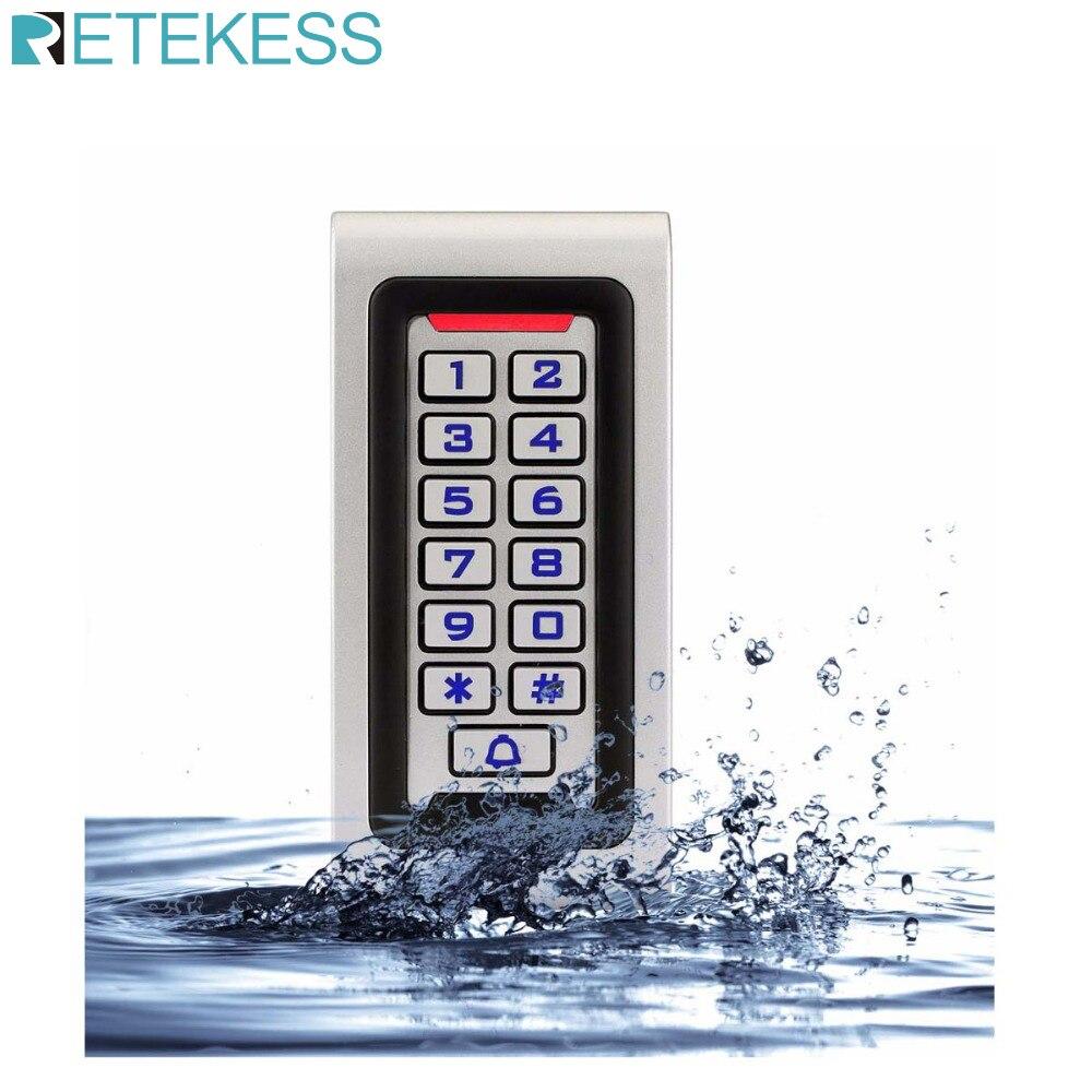 Controle de acesso do teclado rfid ip68 à prova dip68 água caso metal 125 khz id única porta autônoma wiegand 26 bit i/o f1215d Kits de controle de acesso     - title=