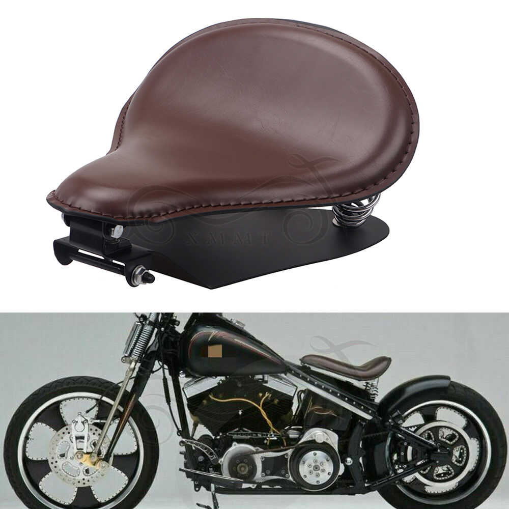 Retro Motorcycle Solo Seat Spring Seated Single Seat Cushion Fit for Bobber Sportster XL883 1200 48 Forty Eight Fatboy Softtail Dyna Street Glide Chopper