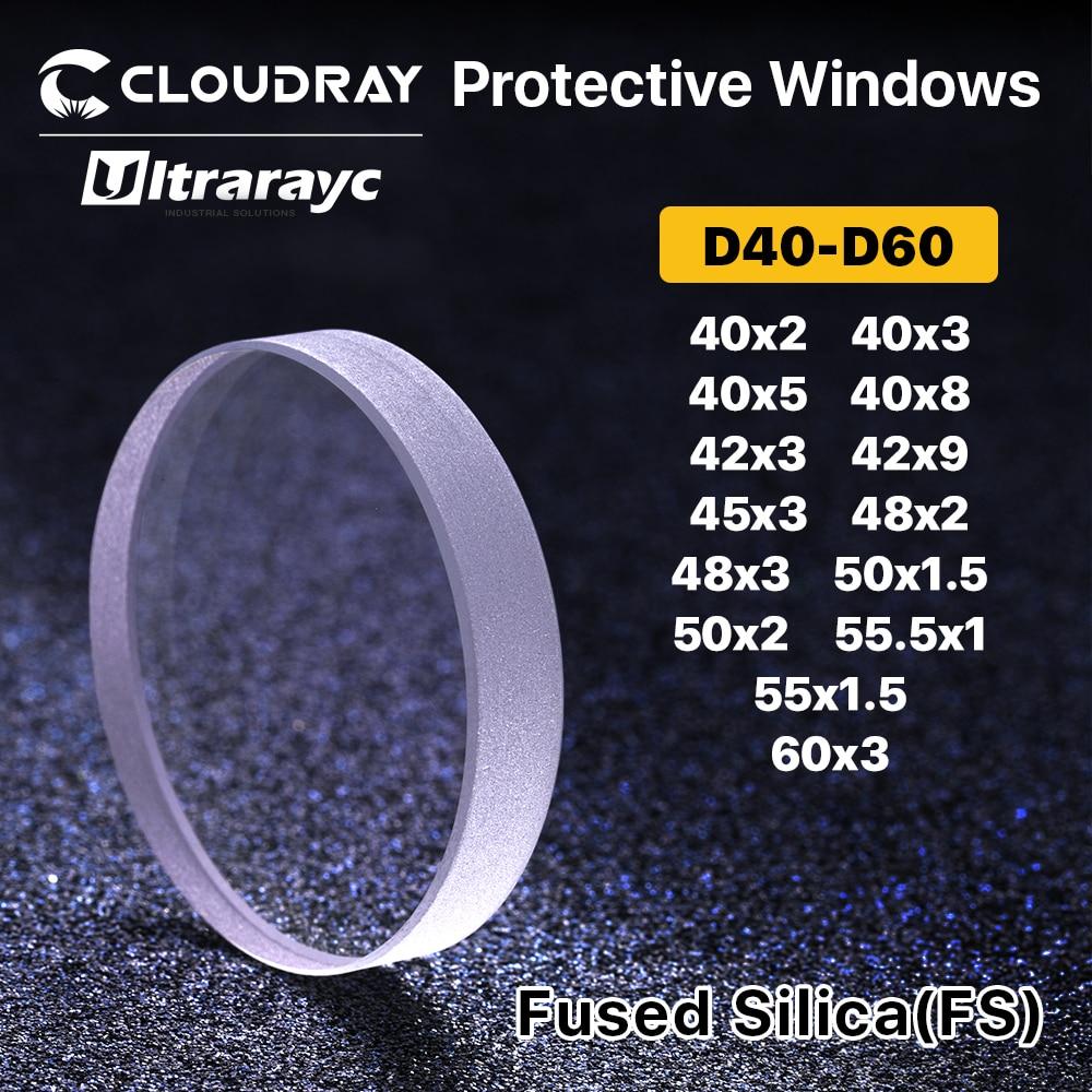Laser Protective Windows Dia.20-27.9mmQuartz Fused Silica for Fiber Laser 1064nm