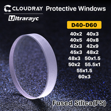 Ultrarayc Fiber Laser Protective Windows D40-D60mm Quartz Fused Silica for 1064nm Fiber Laser