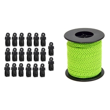 20 Pcs Tarp Clips Multipurpose Secures Clamp with 2.5mm/50M Outdoor Camping Tent Reflective Rope Fixed Pull Rope