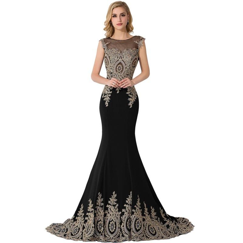 Evening Dress 2020 Elegant Long Mermaid Black Formal Gown Real Photo 2019 Lace Applique Sleeveless Robe De Soiree
