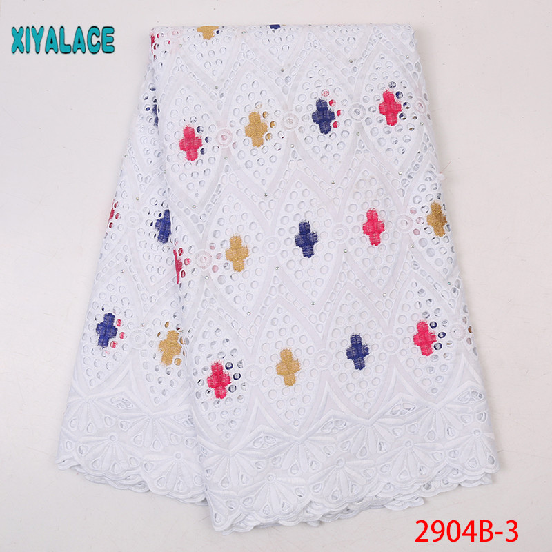 Hot Selling 100% Cotton African Dry Lace Fabric,High Quality Nigerian French Embroidery Lace,Swiss Voile Lace Fabrics KS2904B-3
