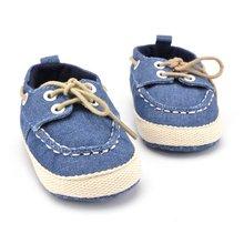 New Baby Shoes Newborn Girl Boy Denim Soft Sole Toddler Infa