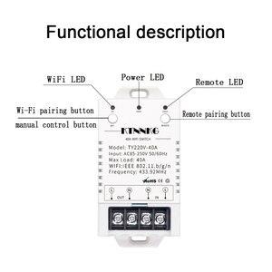 Image 4 - 433Mhz 40A TUYA Smart Life APP WIFI 1Gang 4000watts AC90 250V dernière version contrôle haute puissance climatiseurs, pompes, eau