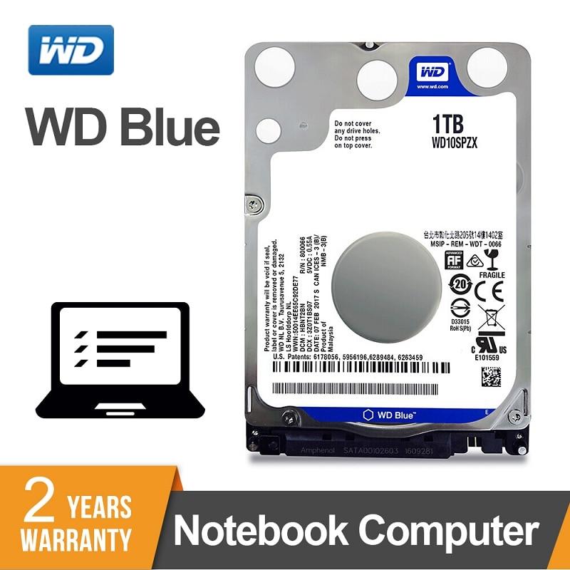 WD Blue 1 ТБ 2,5 дюймов SATA 3 внутренних ноутбук HDD жесткий диск Тетрадь 5400 об/мин