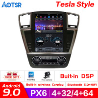 Tesla style Android 9.0 Car Multimedia Player for MERCEDES BENZ GL ML ML 350 W 166 2012 2016 car GPS Navi Autoradio Audio stereo
