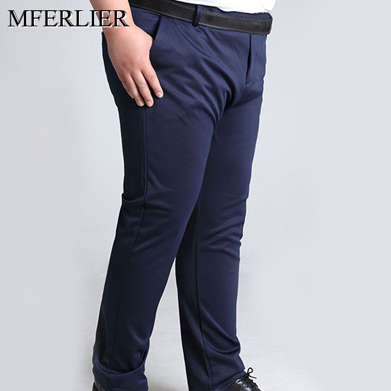 Summer Autumn Pants Men 5XL 6XL 7XL 8XL 9XL 10XL Waist 138cm Plus Size Trousers Men 2 Colors