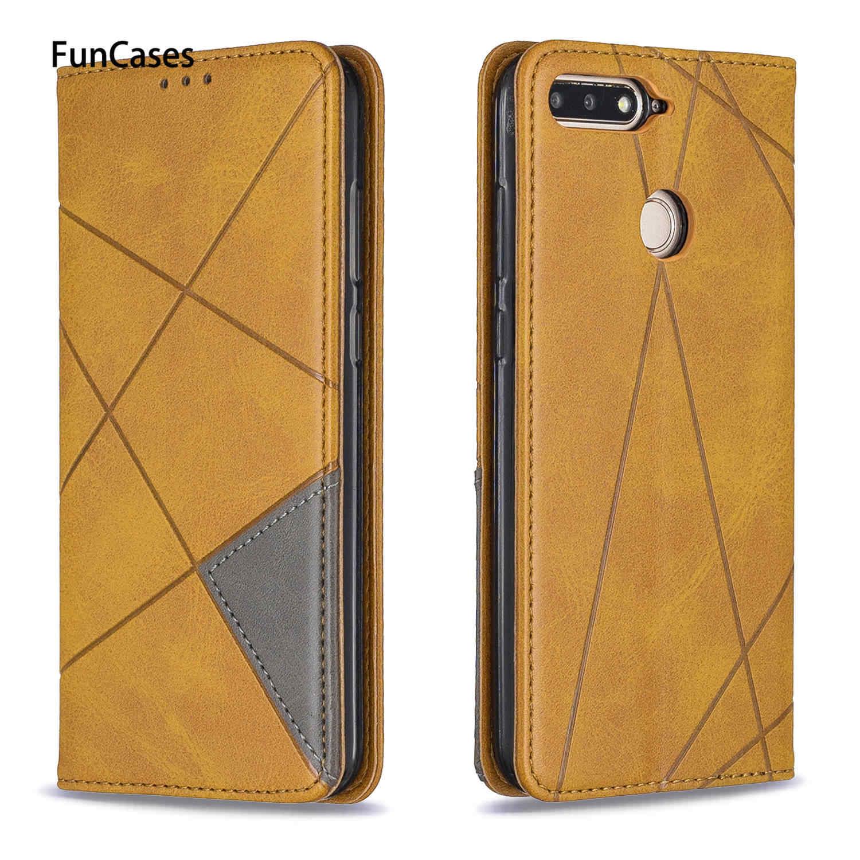 Affaires en cuir PU téléphone sac étuis pour étui Huawei Honor 7A sFor Huawei telefoon profiter 8E Y6 2018 Honor 7C support étuis Casa